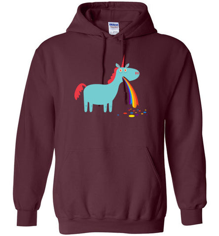 Puking Rainbow Unicorn - Hoodie