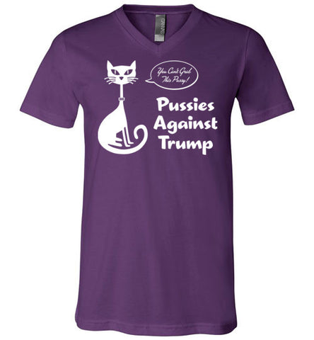 Pussies Against Trump - V-Neck T-Shirt