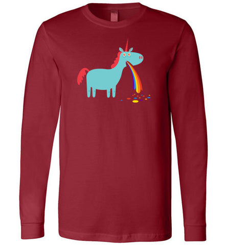 Puking Rainbow Unicorn - Long Sleeve T-Shirt