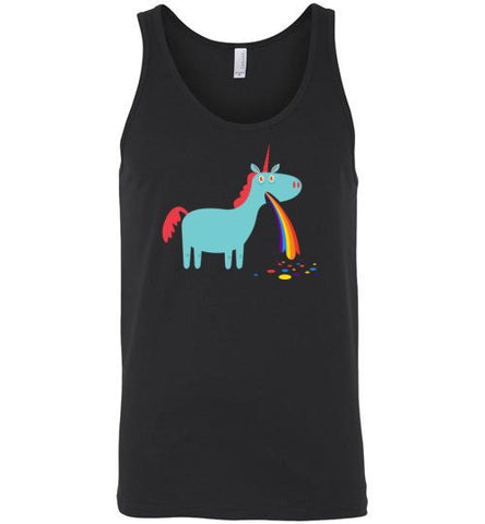 Puking Rainbow Unicorn - Tank Top