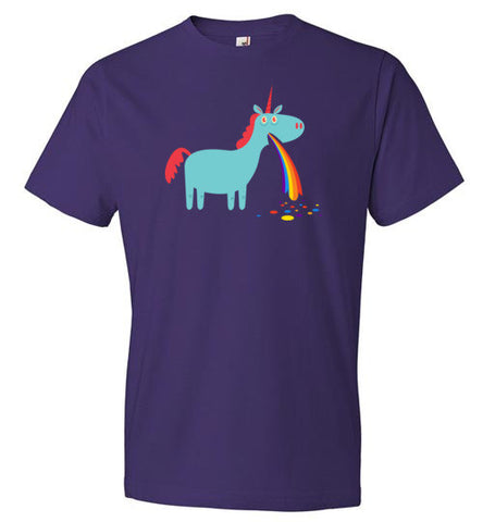 Puking Rainbow Unicorn - T-Shirt