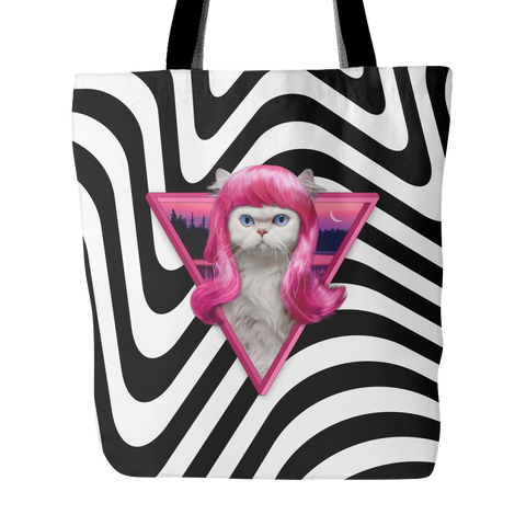 Cat in a Wig - Tote Bag