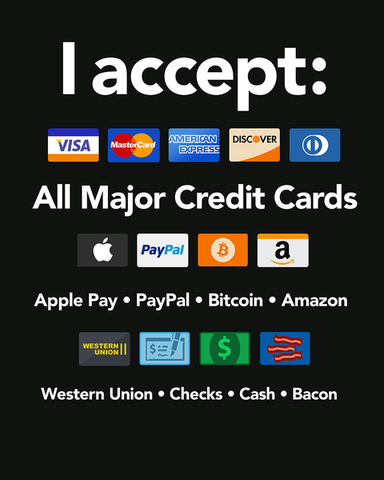 All Types of Payments Accepted - T-Shirt