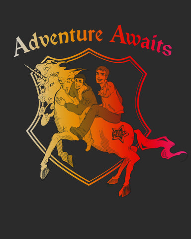 """Adventure Awaits"" Unicorn T-Shirt"