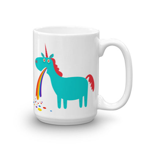 Puking Unicorn Rainbow Mug