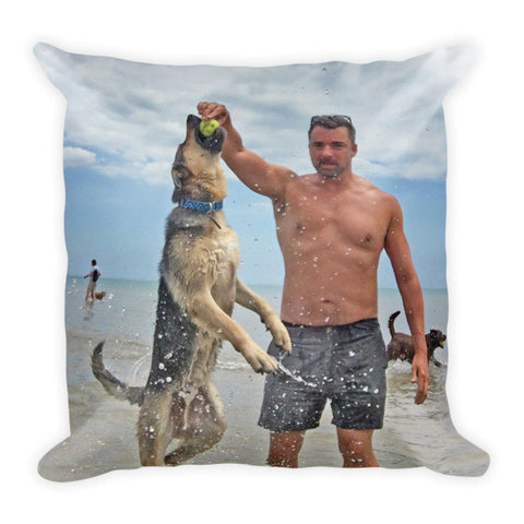 Marc Felion w/ Jesse at the Beach Pillow