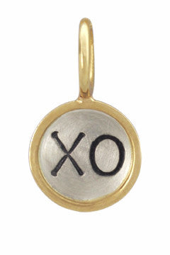 Gold Framed Hug & Kiss Pendant