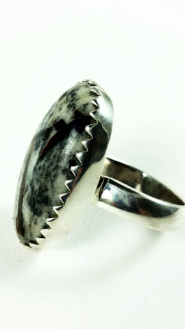 Oval Pyrite Ring in Sterling Silver SALE