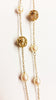 Gold and Pearl Stations Necklace with Basket Detail