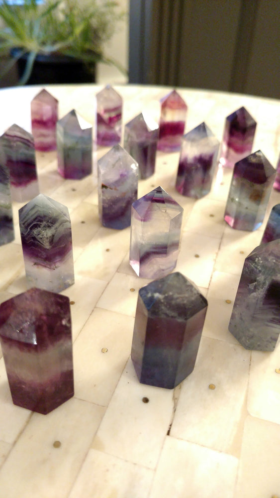 "Flourite 2"" Points (Green Purple Blue Clear) LIMITED TIME ONLY"