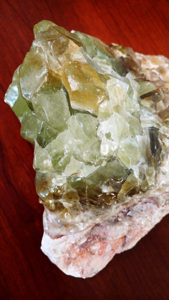 Green Rainbow Calcite Chunk with Banding (Medium Large)