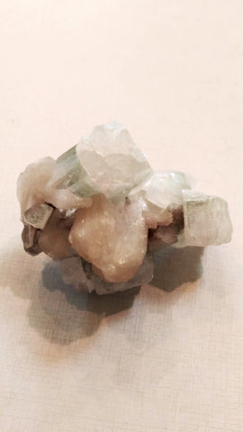 Green Apophyllite & Stillbyte Cluster (Mini)