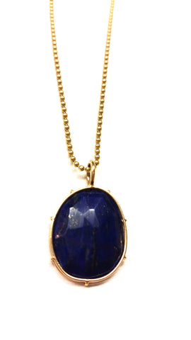 Blue Lapis Harriet Stone in 14ky Handmade Setting - READY TO SHIP