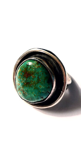 Natural Green American Turquoise Ring