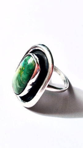 Cascade of Greens Turquoise Ring