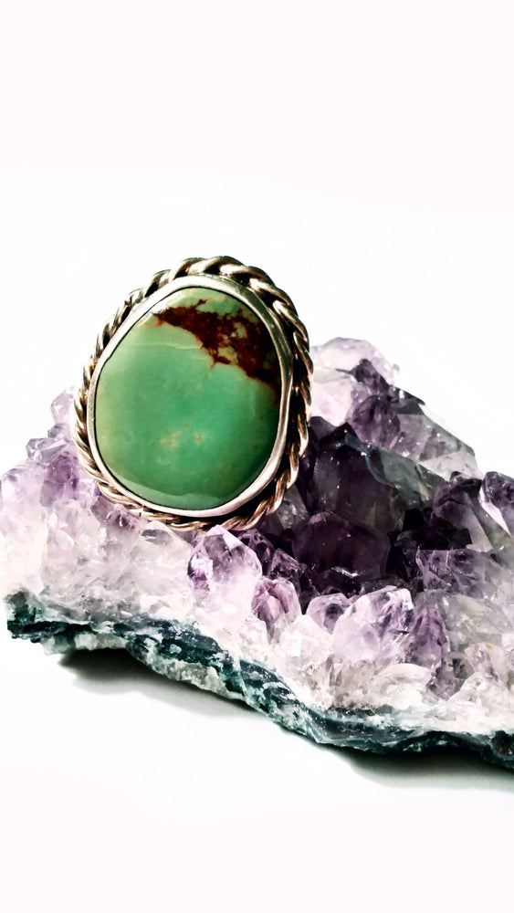 Sage Green American Turquoise Ring