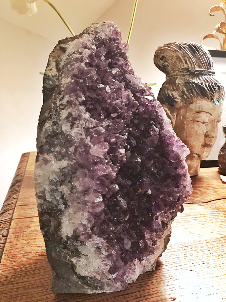 "Amethyst ""Tear Drop"" Standing Crystal"