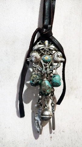 Chinese Prosperity Necklace with American Turquoise