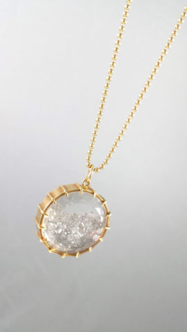 Diamond Shaker Pendant in 18kt gold