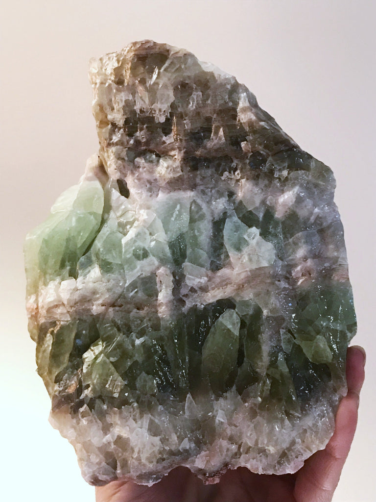 Green Rainbow Calcite Chunk with Bright Pistachio (Medium/Large))