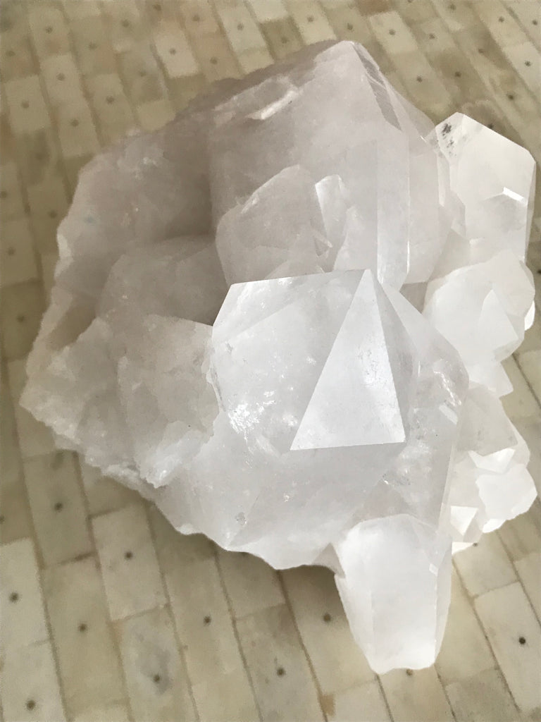 Bright White Quartz Crystal Cluster (Large)