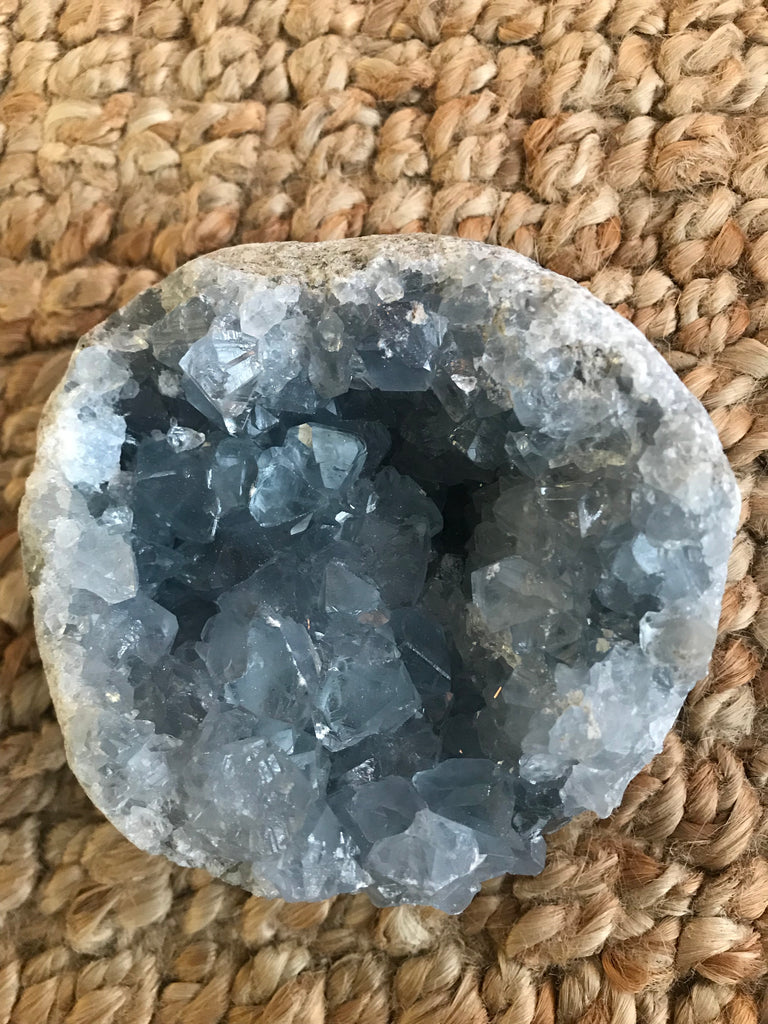 Blue Celestite Geode Round (Large)