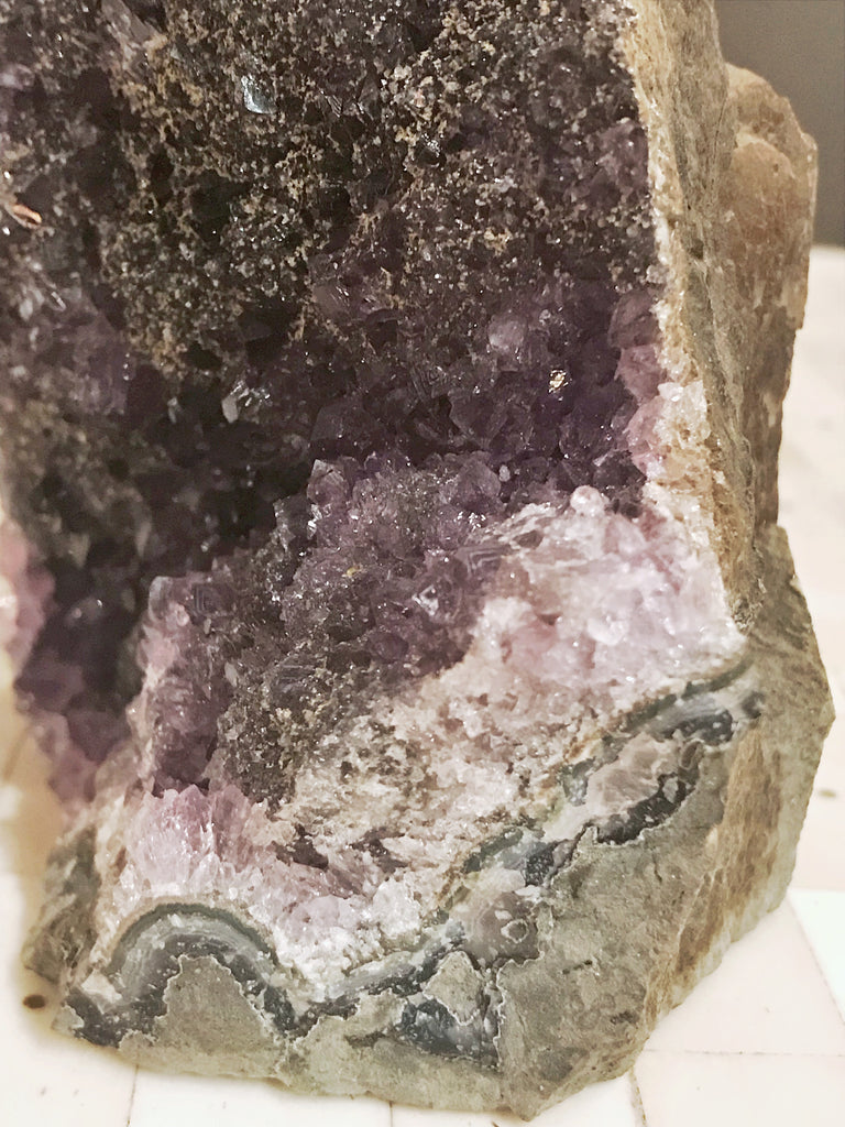Amethyst Druzy Crystal with Black and Gold Druzy