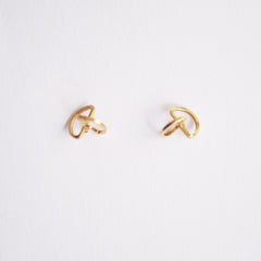 3D SemiCircle Stud Earrings