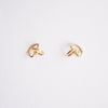 3D Semi Circle Stud Earrings