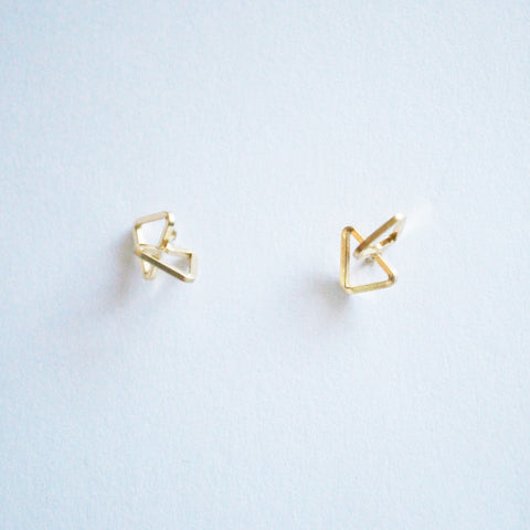 3D Triangles Stud Earrings
