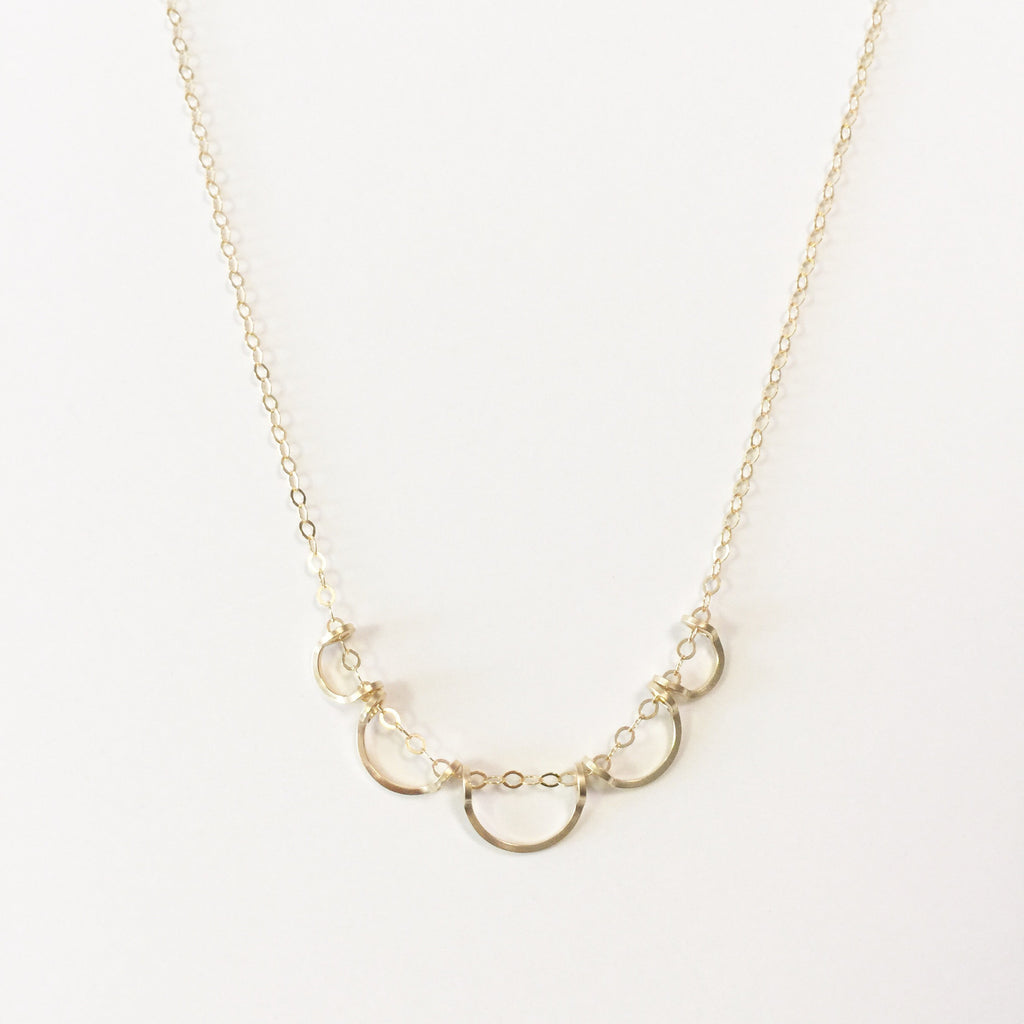 Petite Scallop Necklace
