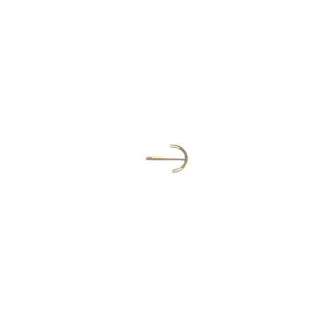 Arc Stud Earring - Solid 14kt