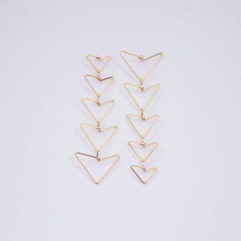 Asymmetrical Arrow Dangle Earrings
