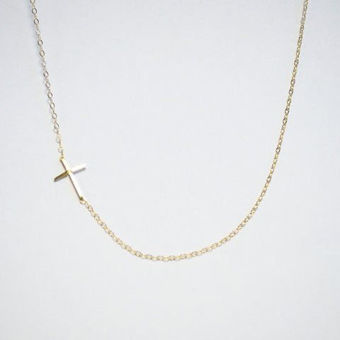 Asymmetrical Cross Necklace