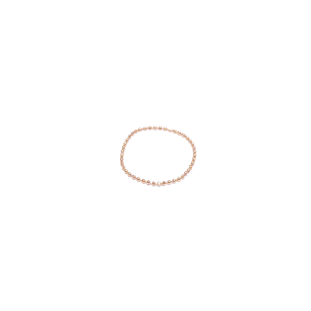 Faceted Bead Chain Ring - Solid 14kt