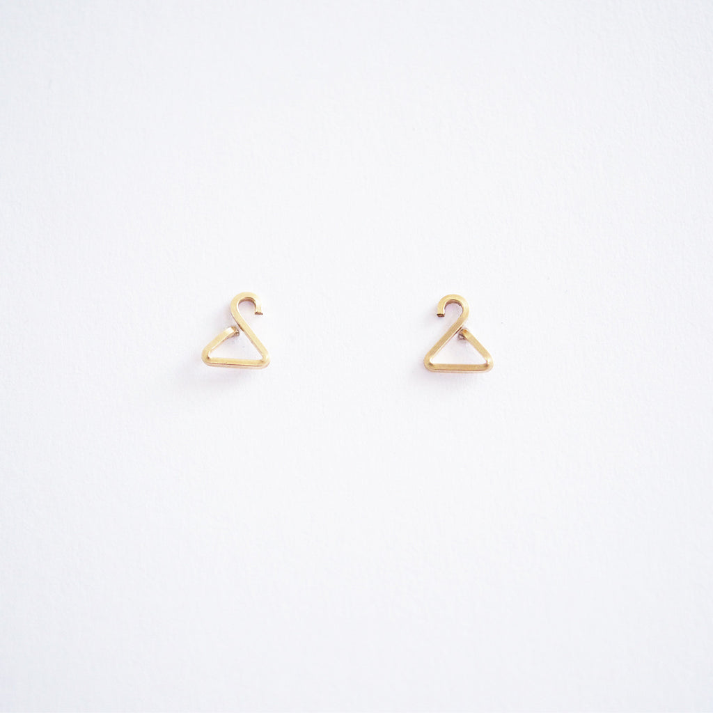 Hanger Stud Earrings