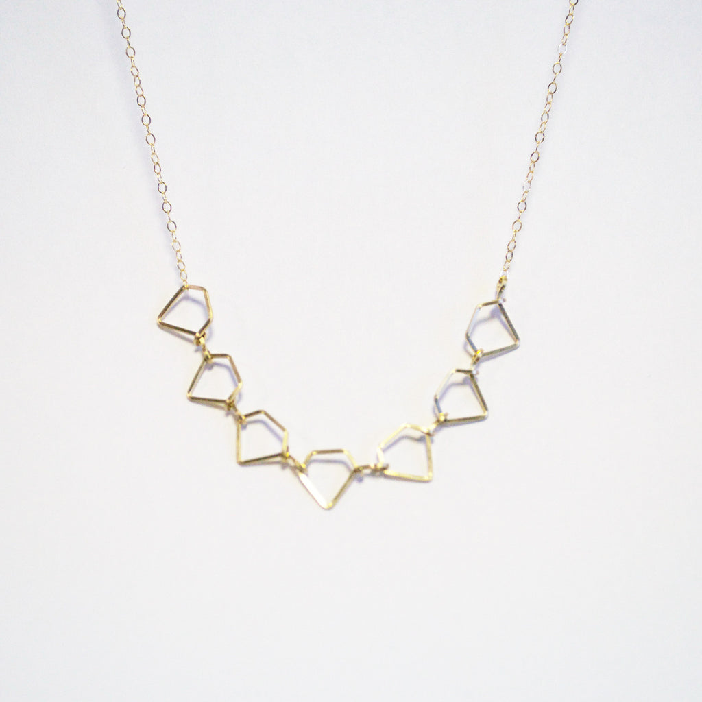 Multi Diamond Necklace