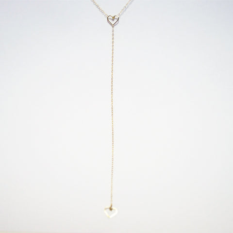 Tiny Heart Lariat Necklace