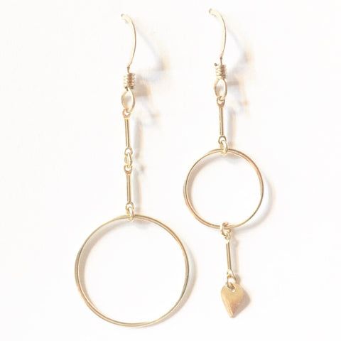 Pike Drop Asymmetrical Dangle Earrings