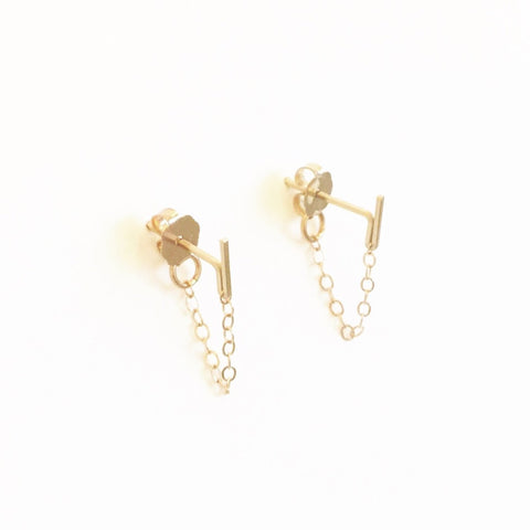Short Sprinkles Chain Loop Earrings