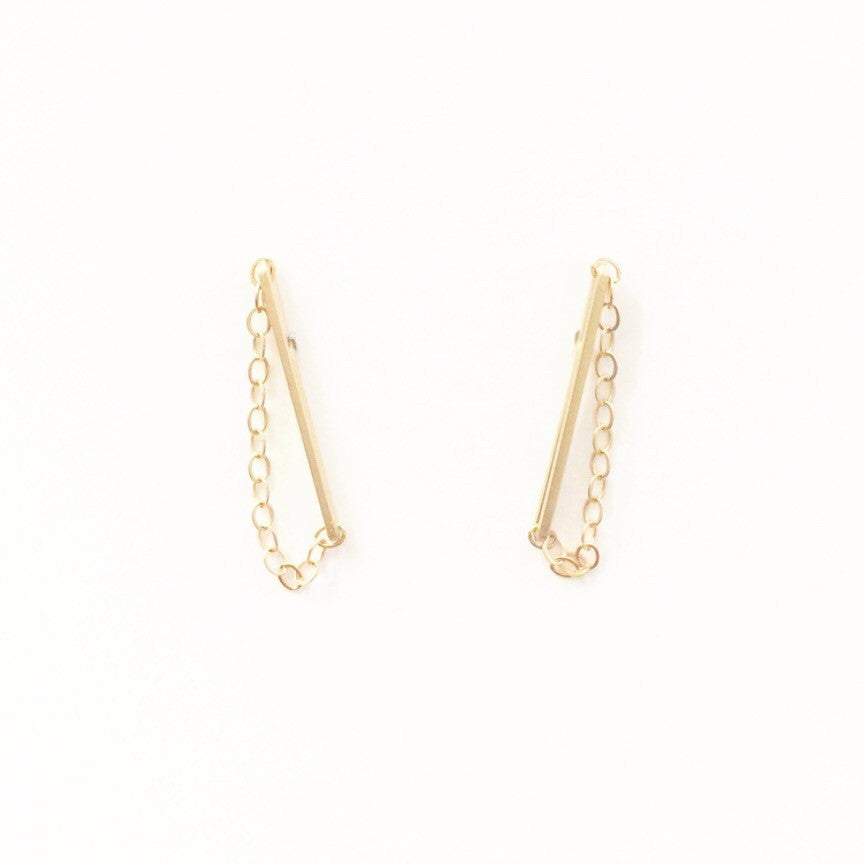 crystals jewelry ear for brincos fashion female earrings stud double color women drop item sided gold earring