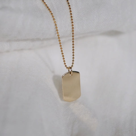 Modern Dog Tag Necklace