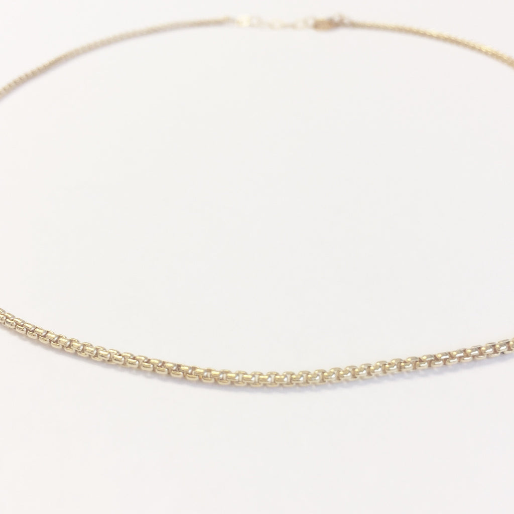 Cubic Chain Choker Necklace