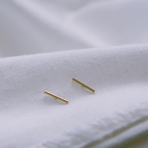 Staple Bar Stud Earrings