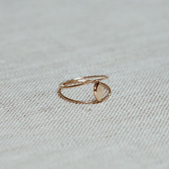 Coupled Marquise Gem Cut Ring - Solid 14kt
