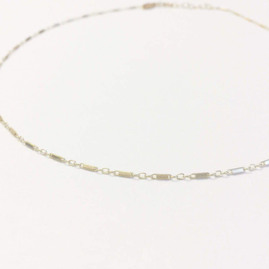 Bar Chain Choker Necklace