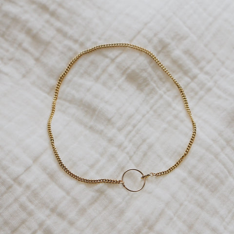 Curb Chain w/Circle Anklet #2