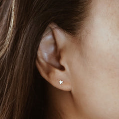 Little Star Stud Earring - Solid 14kt