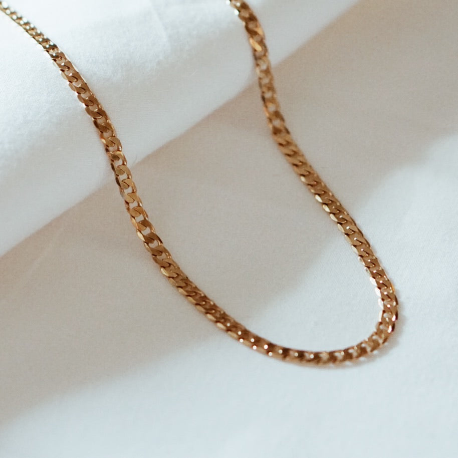 Thick Curb Chain Choker Necklace