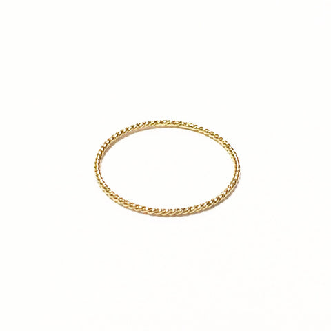 Intertwined Ring - Solid 14kt